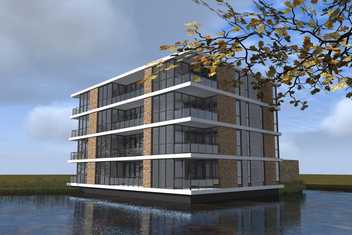 Guldenroede-Halsteren-appartementencomplex